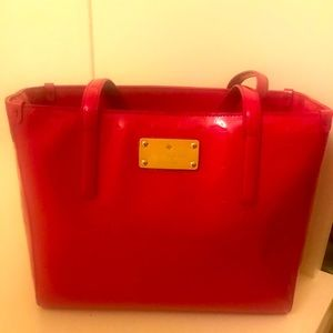 Kate Spade Pink Patent Leather Tote Bag